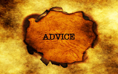 uncovering: Advice  text on paper hole