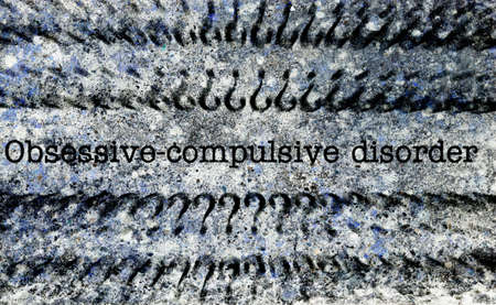 obsessive compulsive: Obsessive compulsive disorder grunge concept Stock Photo