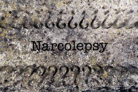 somnambulism: Narcolepsy concept on grunge background