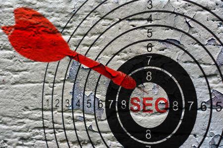 seo: Seo target on grunge background