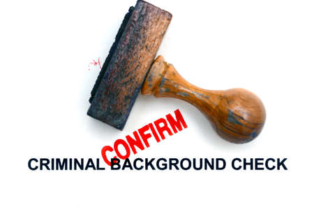 Criminal background check Reklamní fotografie