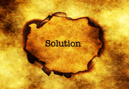 paper hole: Solution text on paper hole