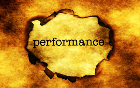 paper hole: Performance text on paper hole Stock Photo