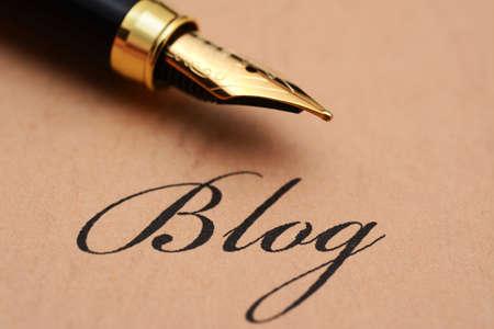 ブログ コンセプトを書く 写真素材