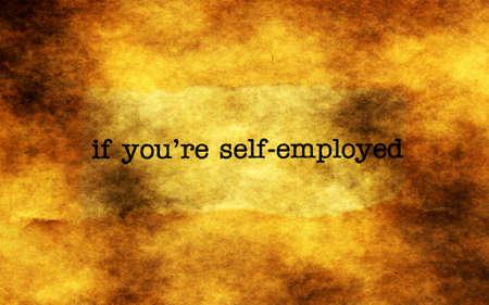 employed: Self employed grunge concept