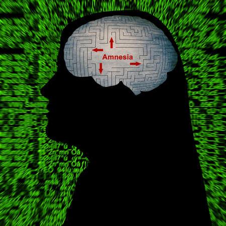 forgetfulness: Amnesia concept