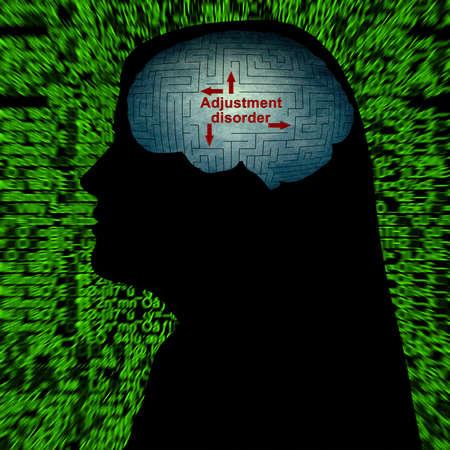 desorden: Ajuste trastorno concepto