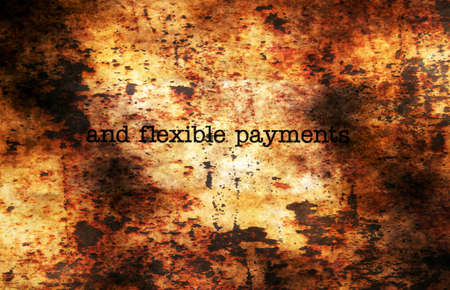 overdrawn: Flexible payments grunge concept