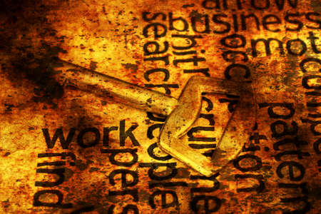 golden key: Golden key on work text grunge concept