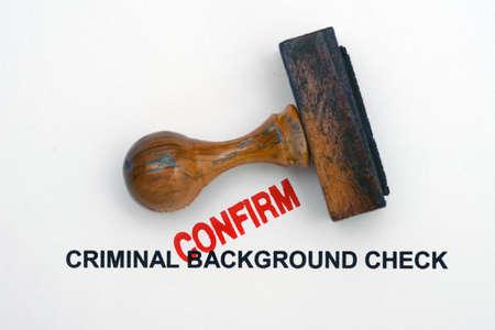 Criminal background check Standard-Bild