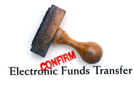 confirm: Electronic funds transfer confirm Stock Photo