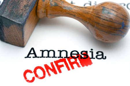 forgetfulness: Amnesia confirm