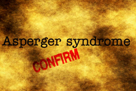 asperger syndrome: Asperger syndrome confirm Stock Photo