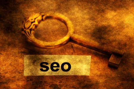 Seo tag and key Stock Photo