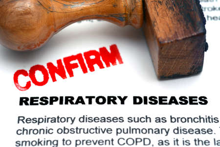 h1n1 vaccine: Respiratory disease confirm Stock Photo