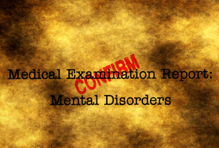 desorden: Confirmar el trastorno mental Foto de archivo