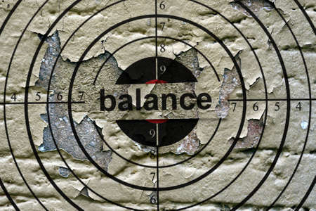 balanced budget: Balance grunge  target Stock Photo
