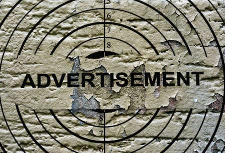 retailing: Advertisement grunge target Stock Photo