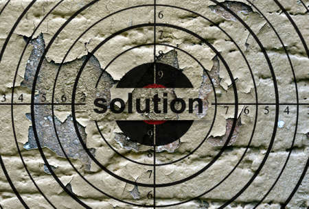 the solution: Solution grunge  target Stock Photo
