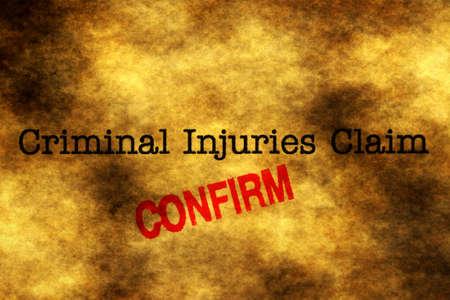 compensate: Criminal injury claim Stock Photo
