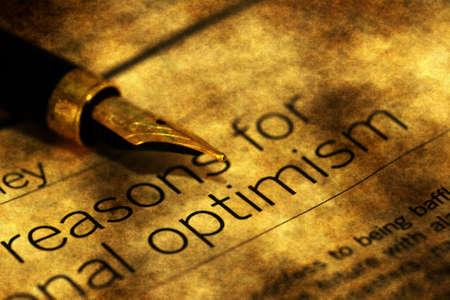 optimismo: Razones para el optimismo Foto de archivo