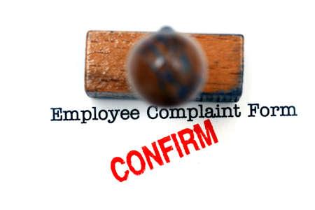 complaint: Employee complaint form