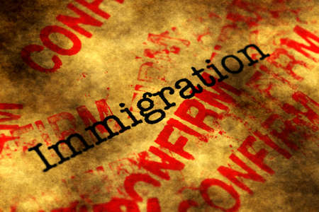 confirm confirmation: Immigration confirm Stock Photo