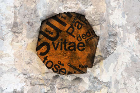 vitae: Vitae text on hole