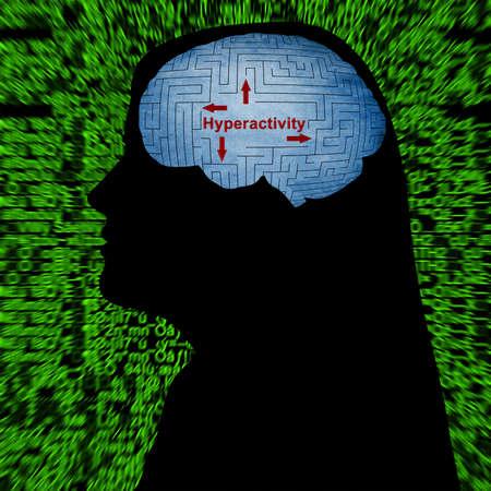 hyperactivity: Hyperactivity mind control Stock Photo