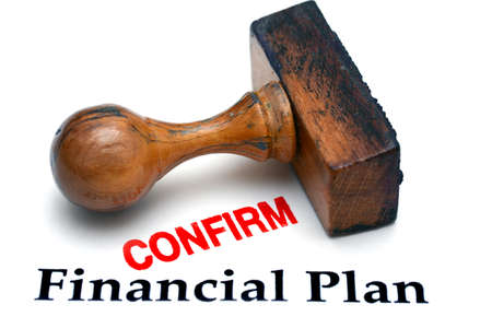 confirm confirmation: Financial Planning confirm Stock Photo