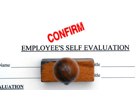 approval rate: Employee self evaluation Stock Photo