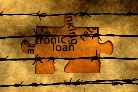 barbwire: Loan puzzle against barbwire