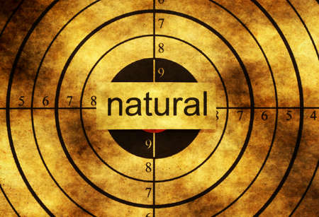 preservatives: Natural grunge  target Stock Photo