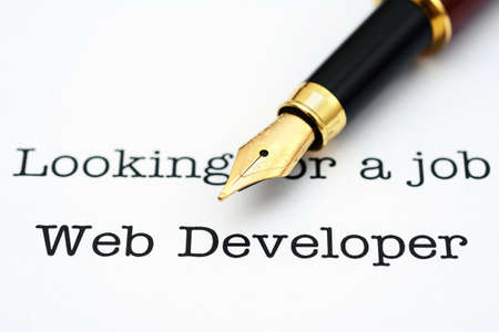 web developer: Web developer job Stock Photo