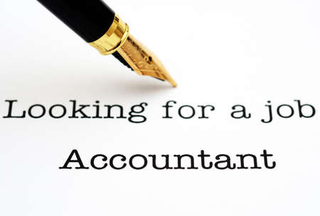 looking for a job: Looking for a job Accountant Stock Photo