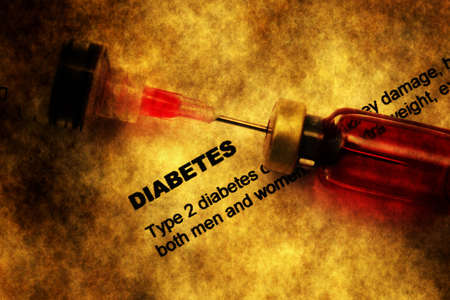 Diabetes grunge concept Stock Photo