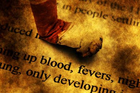 Smoking kills grunge concept