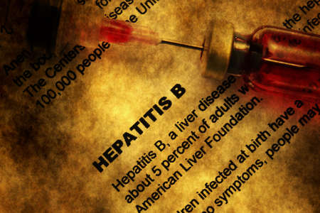 hepatic: Hepatitis grunge concept