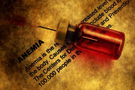 anemia: Anemia grunge concept Stock Photo