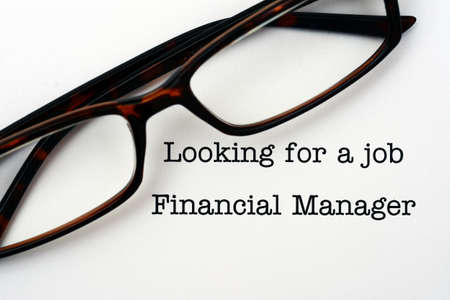 looking for a job: looking for a job financial manager Stock Photo