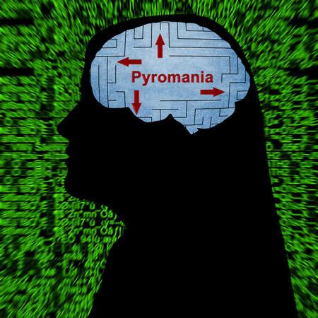 pyromania: Pyromania in mind concept