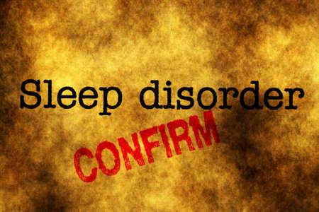 insomniac: Sleep disorder confirm stamp