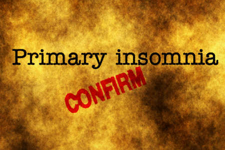 tiredness: Primary insomnia confirm grunge concept Stock Photo