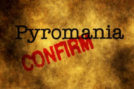 pyromaniac: Pyromania stamp confirm grunge concept