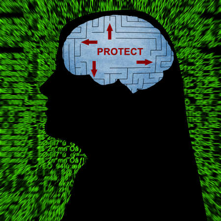 telepathy: Protect in mind concept