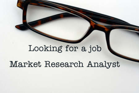 looking for a job: Looking for a job Market Research Analyst Stock Photo