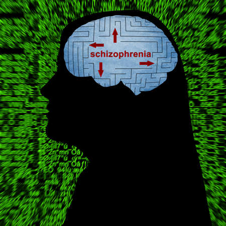 losing knowledge: Schizophrenia in mind Stock Photo