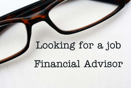 looking for a job: Looking for a job Financial Advisor Stock Photo