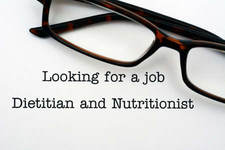dietetics: Looking for a job Dietitian and nutritionist Stock Photo