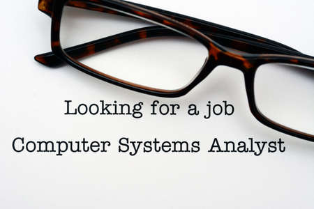 looking for a job: Looking for a job Computer System Analyst Stock Photo